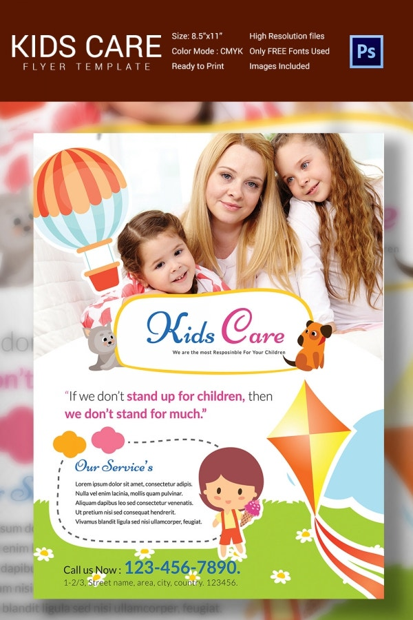 Daycare flyer template 30 free psd ai vector eps for Daycare brochure template