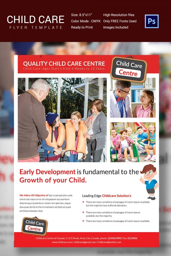 Multipurpose Daycare Flyer Termplate