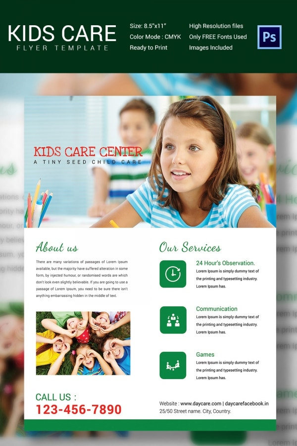 Free Daycare Flyer Templates Datariouruguay