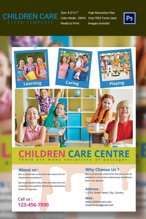 Colorful Daycare Flyer Template