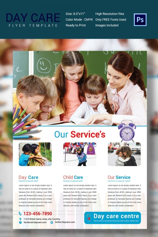 Corporate Daycare Flyer Template