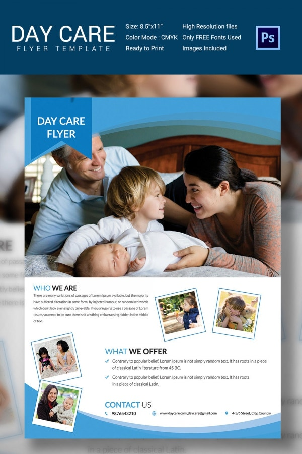 Fun Daycare Flyer Template