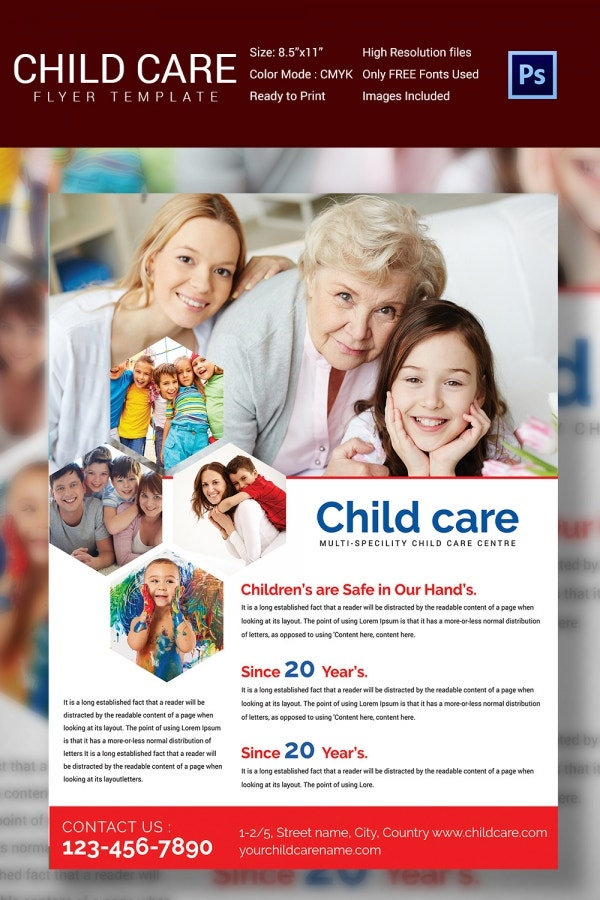 Children Daycare Flyer Template