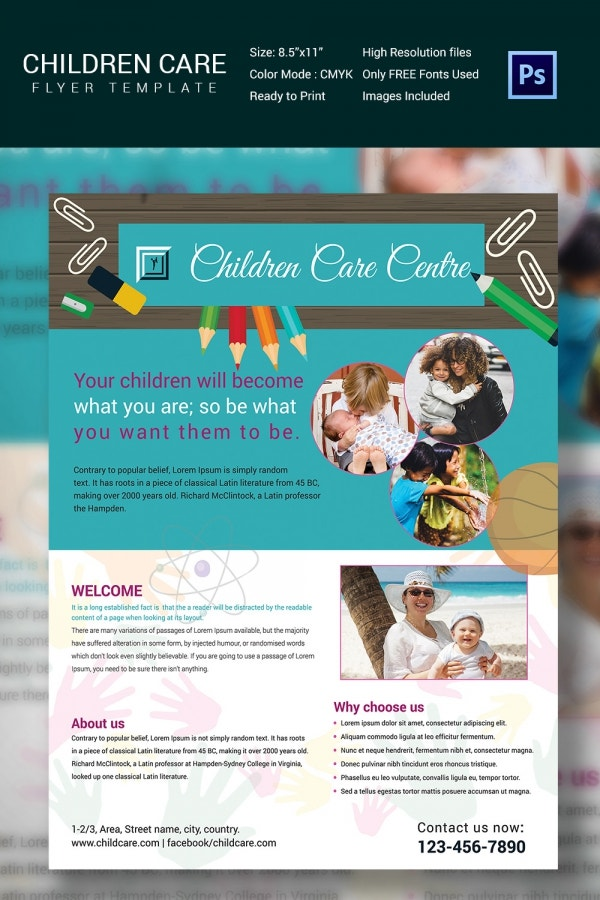 Daycare Flyer Template - 30+ Free PSD, AI, Vector EPS Format ...