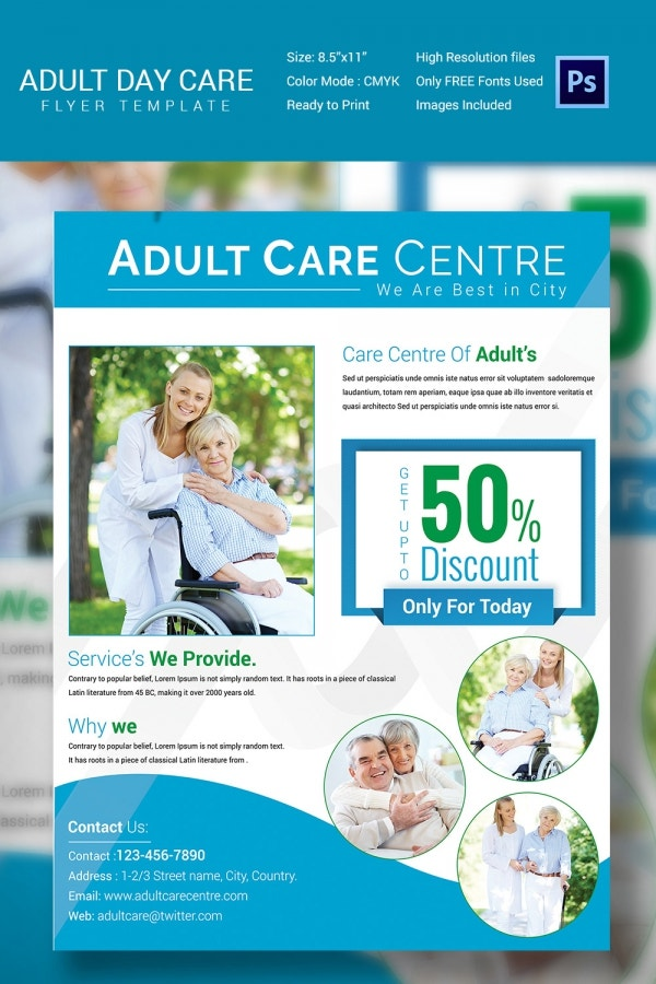 Adult Daycare Center Flyer Template