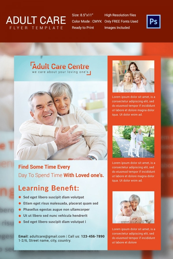 Old Age Home Care Flyer Template