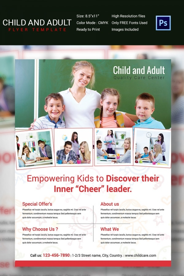 Quality Child And Adult Care Flyer Template