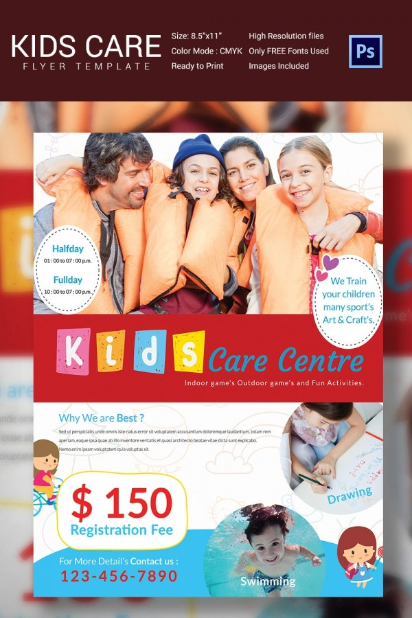 Premium Kids Care Center Flyer Template