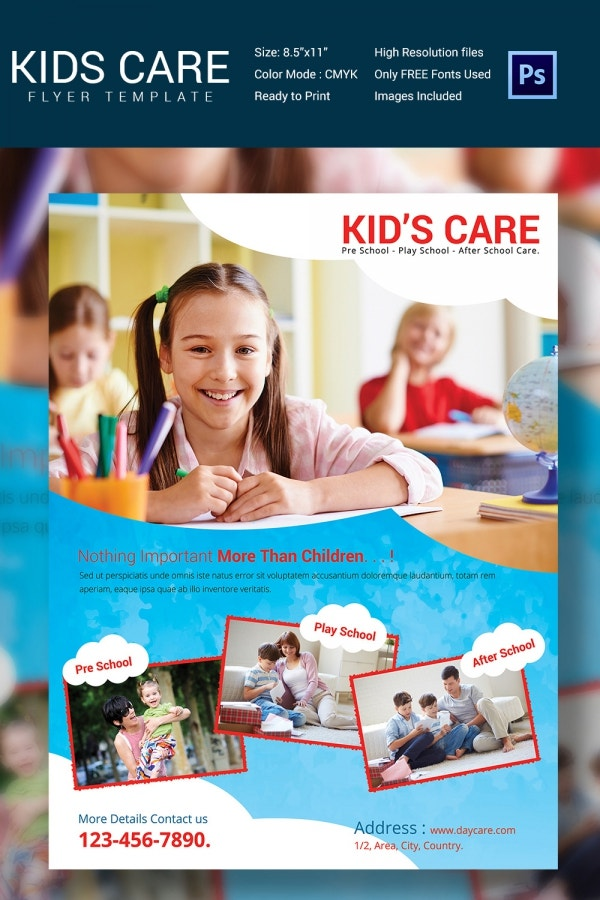 Well Designed Daycare Center Flyer Template
