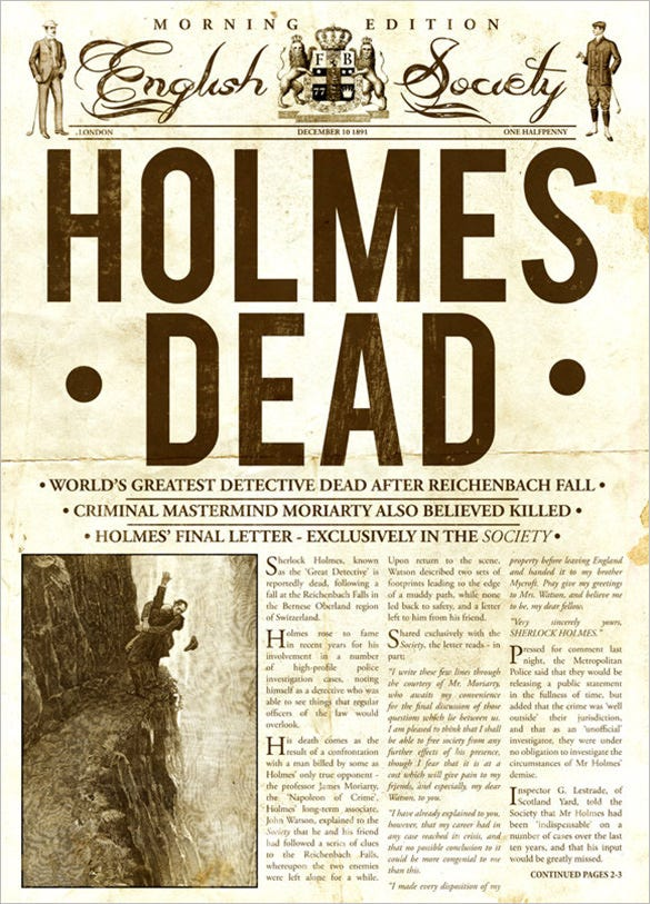 Old Fashioned Newspaper Article Template Roho4senses