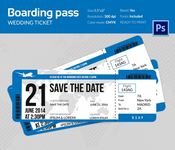 Free Printable Airline Ticket Invitation orderecigsjuiceinfo