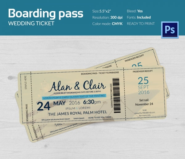 boarding pass template free - train ticket invitation template free