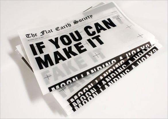 free sample newspaper template download