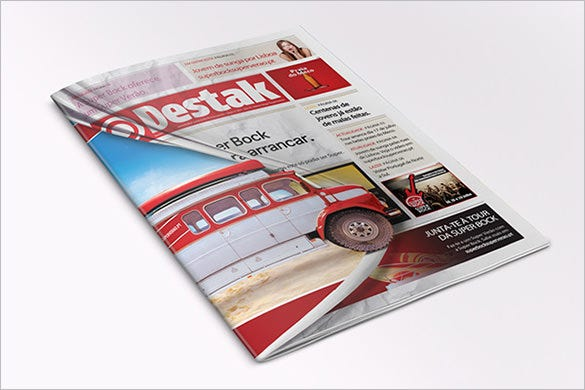 free download destak sample newspaper cover template