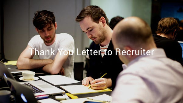 thank you letter to recruiters