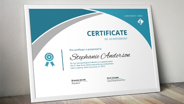 38  sample certificate templates