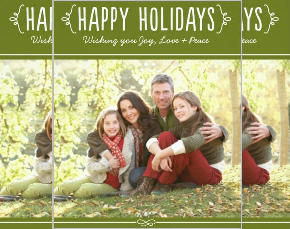 happy holidays photo card invitation joy love peace wishes