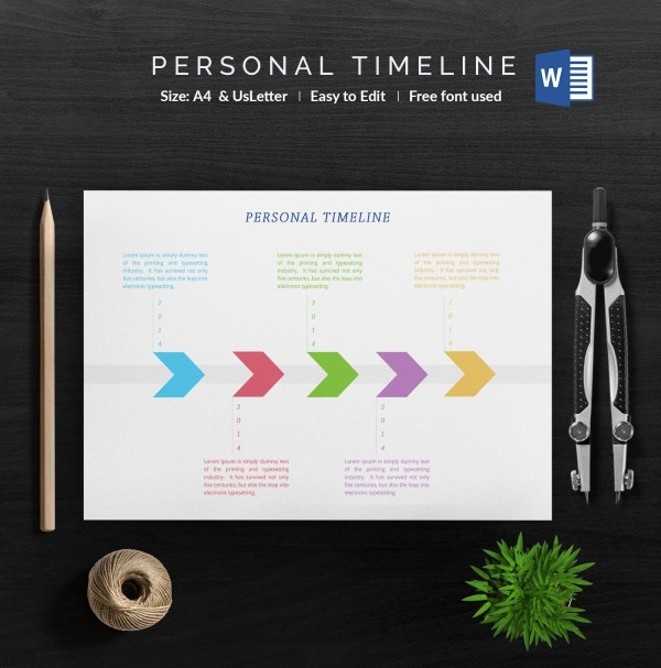 A4 Personal Timeline Template