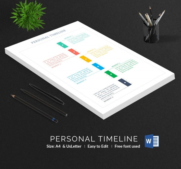Personal Timeline in Word
