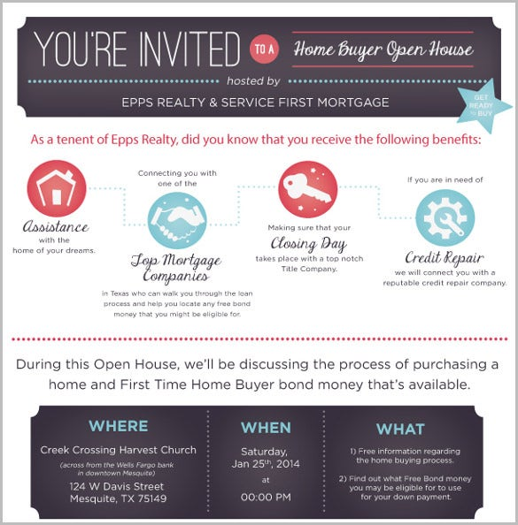 Open House Invitation Template 11 Free PSD Vector EPS AI – Business Invitation Templates