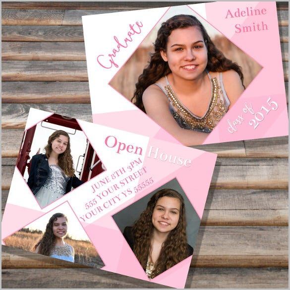 grad announcement open house invitation high school senior