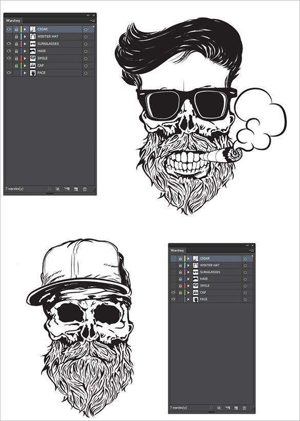 18 photoshop skull tattoo designs