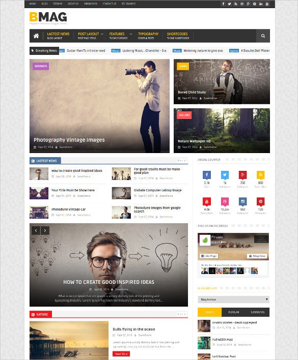clean compatible magazine mobile blogger template