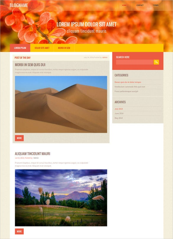 mobile bootstrap responsive blogger template
