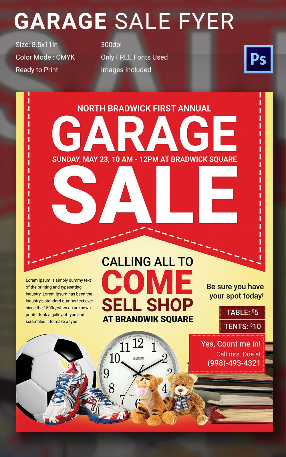 Yard Sale Flyer Template | Garage Sale Flyer