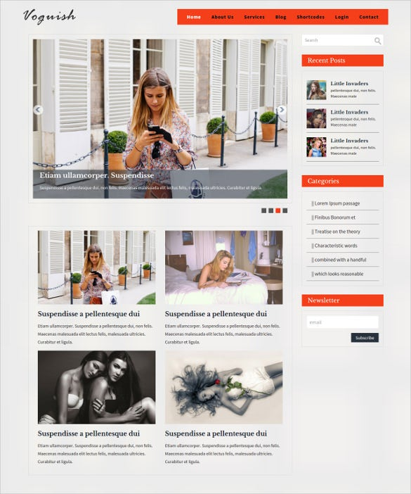 professional responsive layout mobile blog template