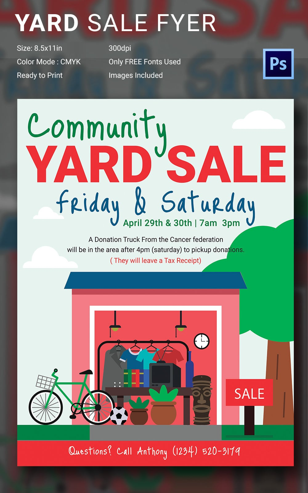 14 Best Yard Sale Flyer Templates PSD Designs – Donation Flyer Template
