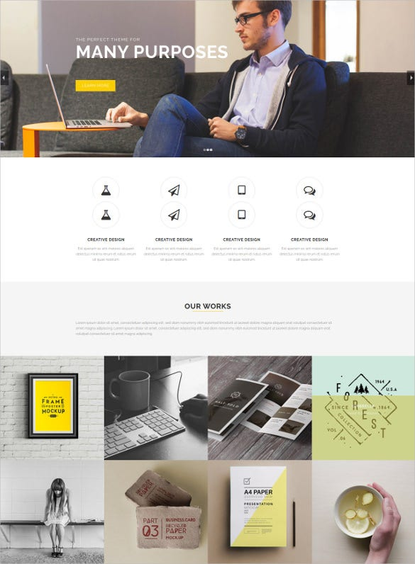 multi purpose foundation 5 html theme