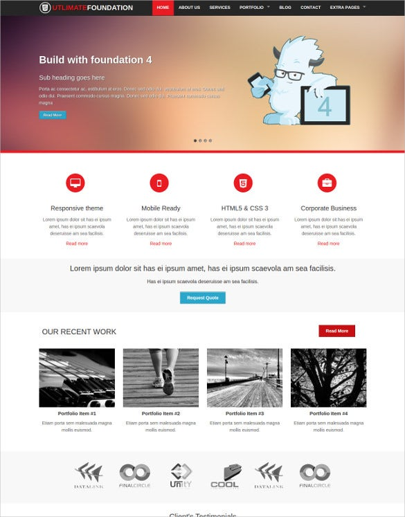 ultimate foundation 4 business theme
