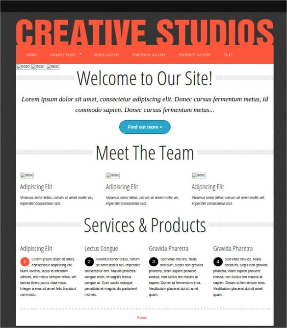 creative studios free foundation theme