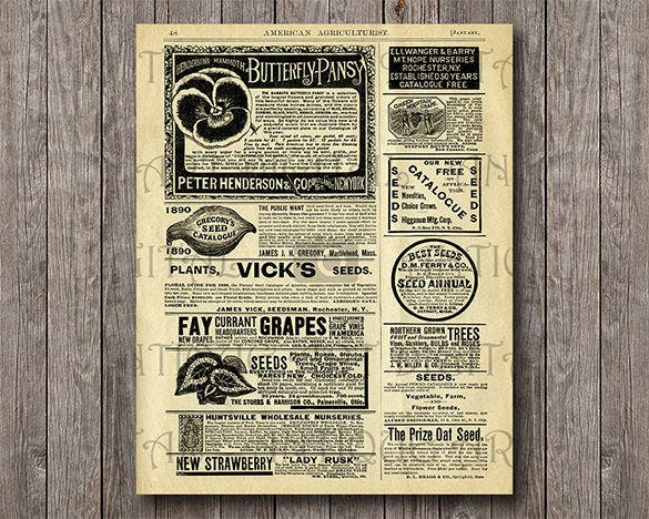 1890 old agriculture newspaper printable