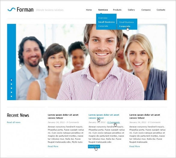 latest corporate business psd template