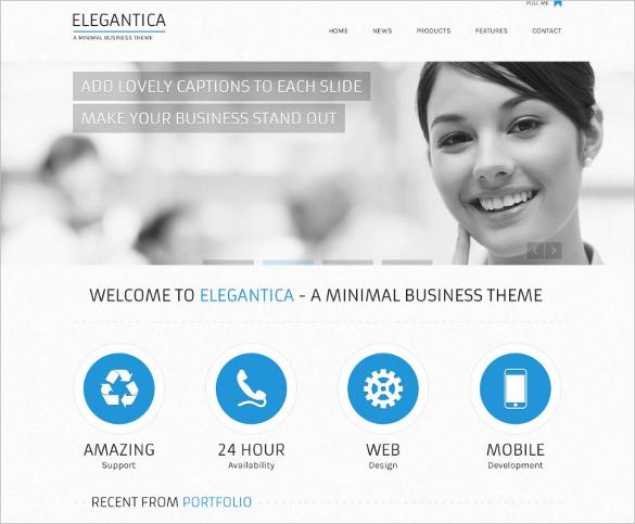 corportae elegant portfolio website psd template