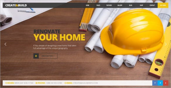 perfect grid view corporate construction building psd template