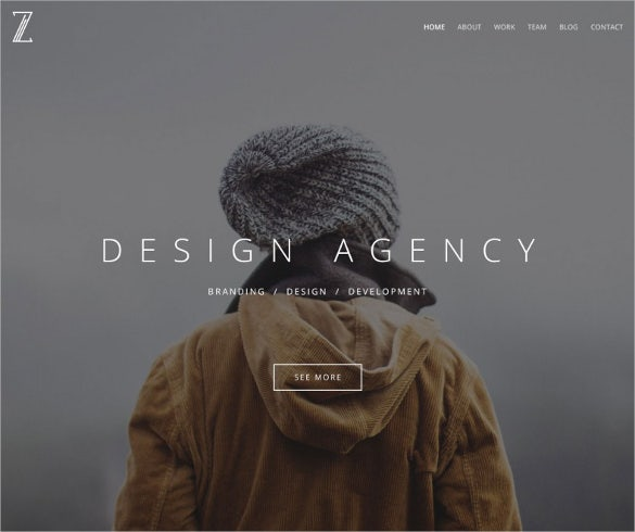 awesome corporate agency psd template