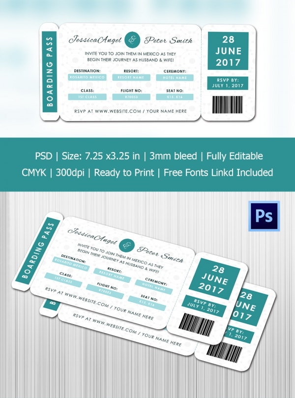 Special Invitation Boarding Pass Template