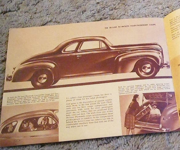 1940 plymouth brochure