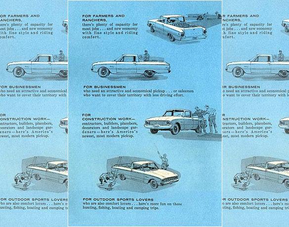 1960 ford falcon ranchero brochure
