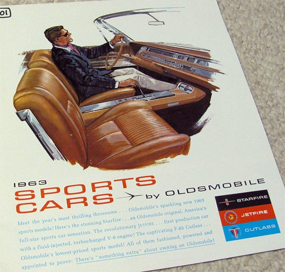 1963 oldsmobile sports car brochure