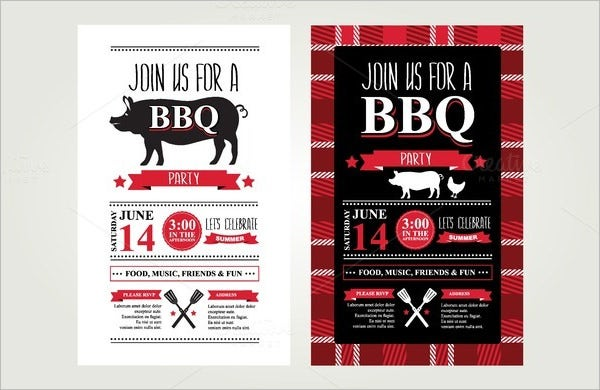 2 barbecue invitations template