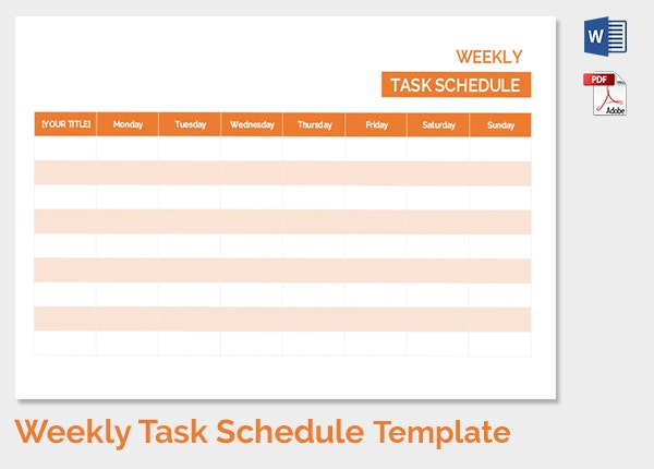 Weekly Schedule Template - 12+ Free Sample Example Format Download