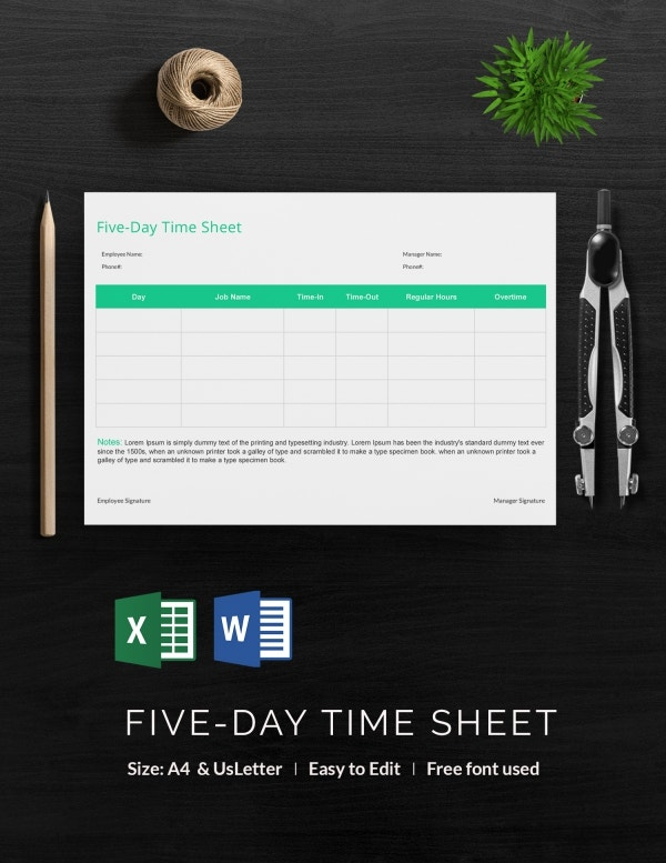 five-day_time_sheet