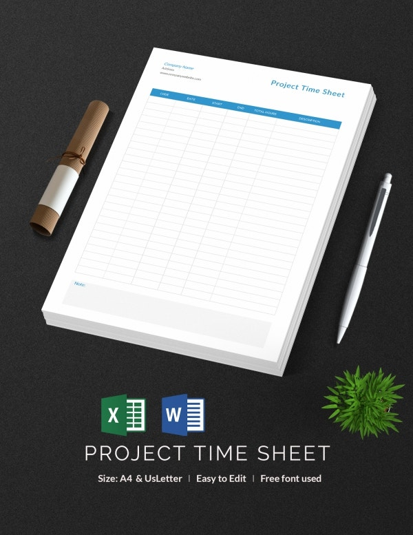 Project Time Sheet Template