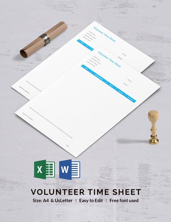 Volunteer Time Sheet Template