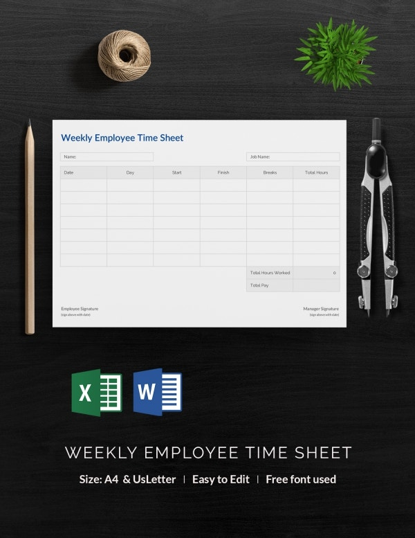 Weekly Employee Time Sheet Template