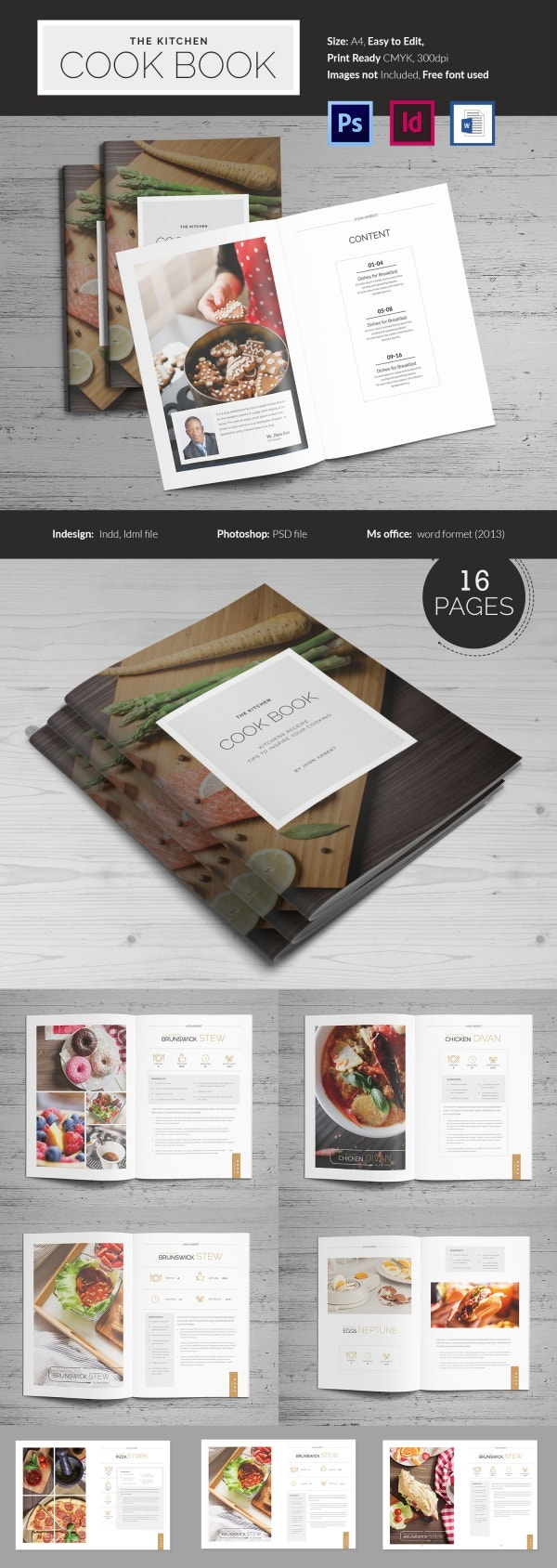 microsoft office cookbook template.html